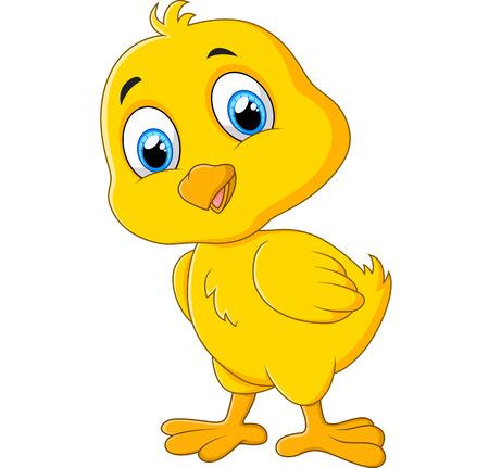 Cute chicken cartoon Vector Illustration