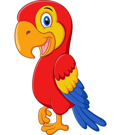 macaw: Cute macaw bird cartoon posing Illustration