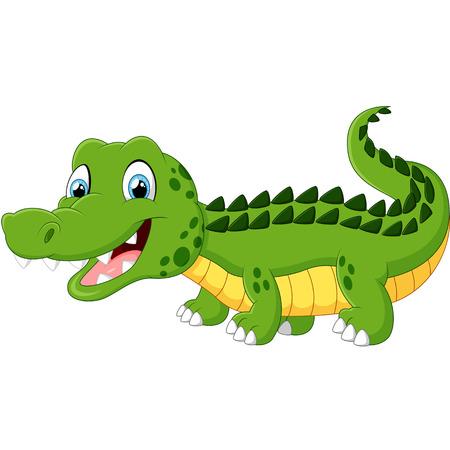 timid: Cartoon crocodile