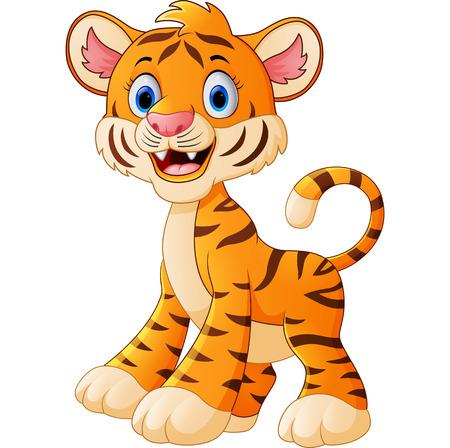 tigre bebe: historieta del tigre de bebé lindo Foto de archivo