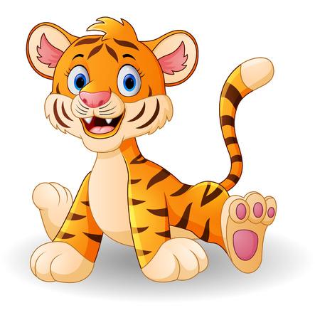 cute cartoon: Cute baby tiger cartoon