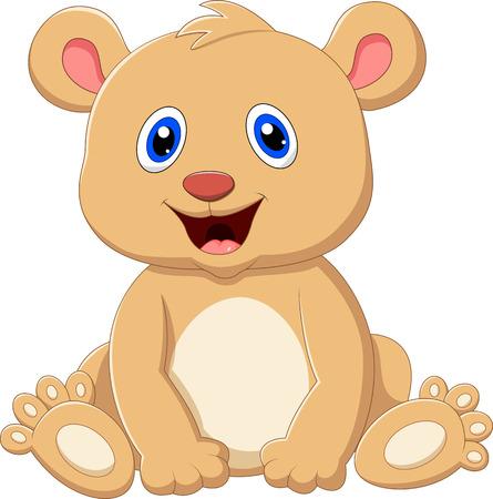 art icons: Cute baby bear cartoon