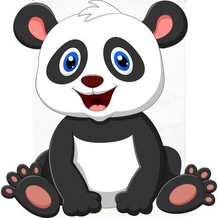 cute panda: Cute panda cartoon Illustration