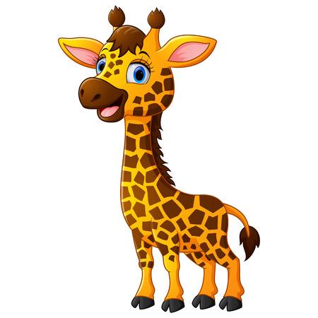 Bande dessinée mignonne de girafe Banque d'images - 51075924
