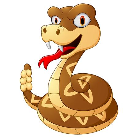 serpiente de cascabel: serpiente de cascabel de la historieta Foto de archivo