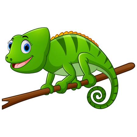 hand cartoon: Cute lizard cartoon