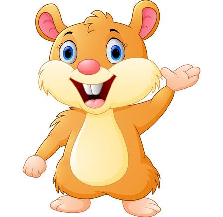 adorable baby: Cute mouse cartoon waving