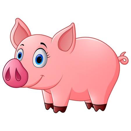 cute baby: Cute baby pig cartoon