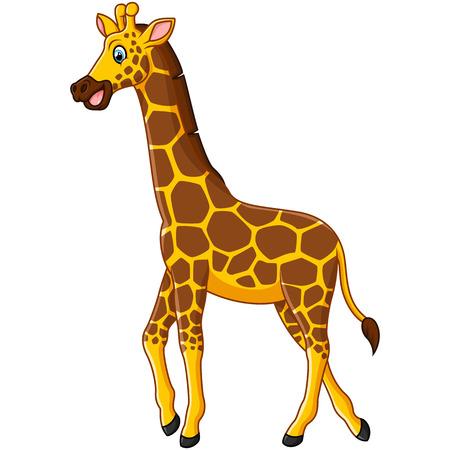 cute giraffe: Cute giraffe cartoon