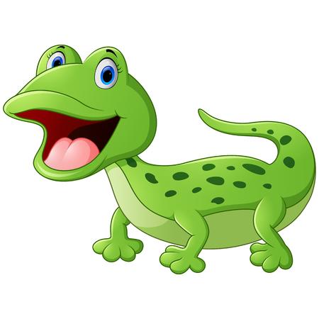 reptilian: Cartoon cute lizard
