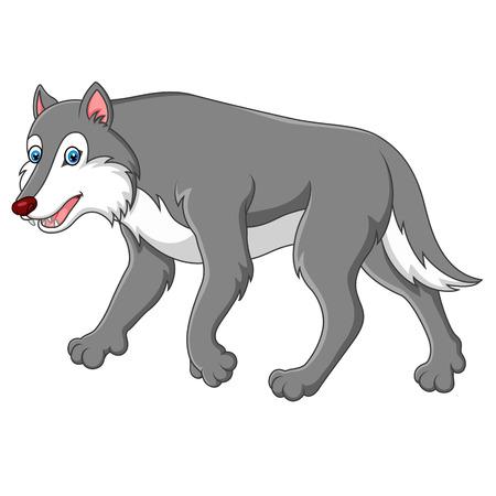 cute cartoon: cute cartoon wolf