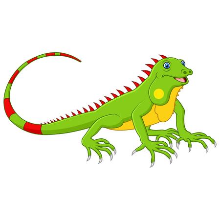 cute cartoon: Cartoon cute lizard