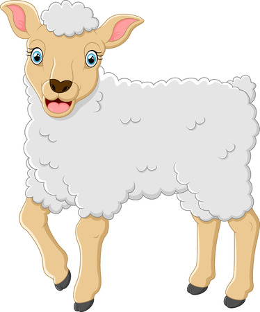 Cute sheep cartoon Vectores