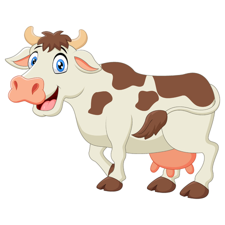 udder: Happy cartoon cow