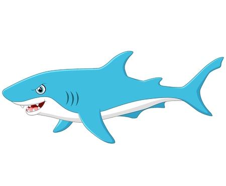 fish water: cute cartoon shark