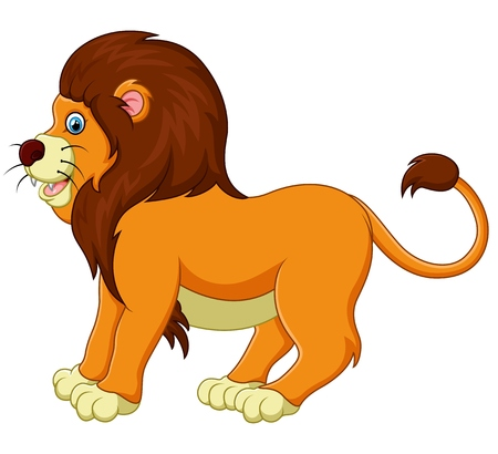 cartoon king: cute lion cartoon Illustration