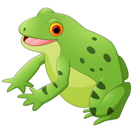 croaking: Cartoon happy frog