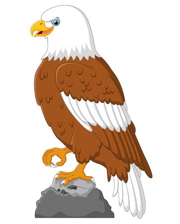 dignity: Cartoon eagle posing