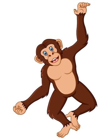 thumping: Funny monkey Illustration