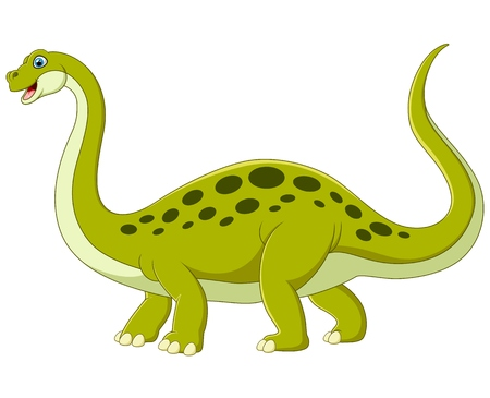 dinosaur cute: Cartoon adorable dinosaur Illustration