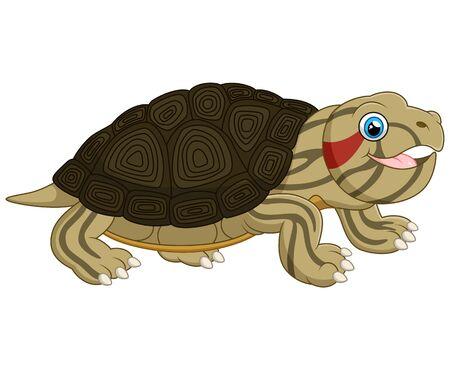 cute cartoon: Cartoon baby cute turtle