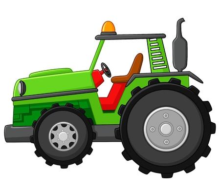 cartoon tractor: Farm tractor Stock Photo