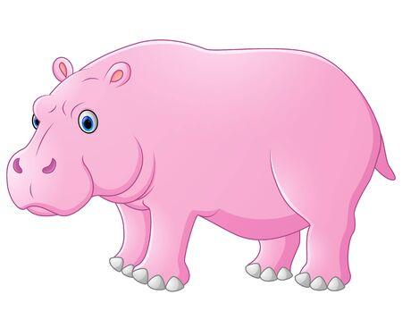 hipopotamo caricatura: Historieta linda del hipop�tamo Foto de archivo