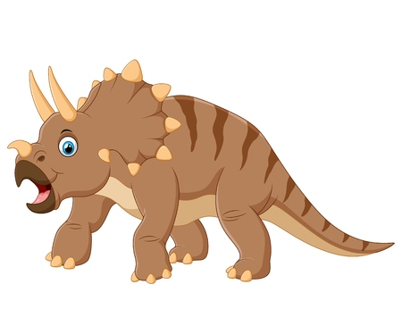 triceratops: Triceratops cartoon Stock Photo