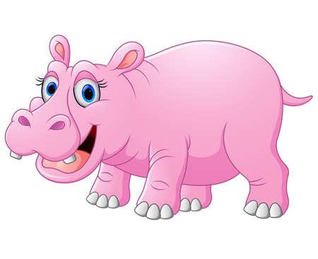 hippo cartoon: Cute hippo cartoon Stock Photo