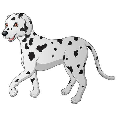 dalmatian: cartoon illustration of a Dalmatian walking