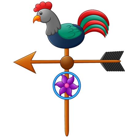 rooster weather vane: weather vane illustration