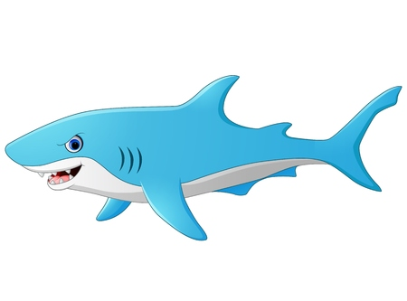 shark cartoon: tiburón lindo de la historieta Vectores