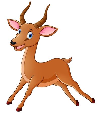 Illustration of antelope Stock Illustratie