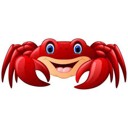 arthropods: Cartoon red marine crab