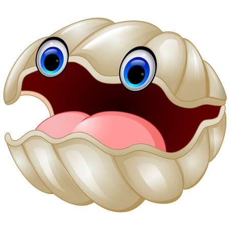 ostra: ostras de dibujos animados Foto de archivo