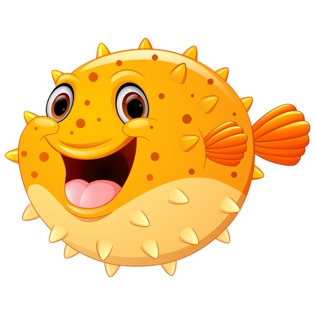 puffer: Cute puffer fish cartoon
