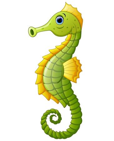 cute cartoon: Cute sea horse cartoon