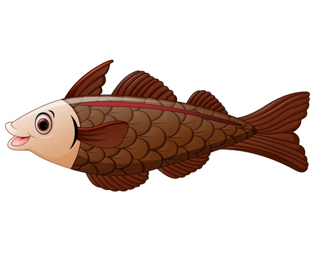 alaska pollock: cod fish cartoon