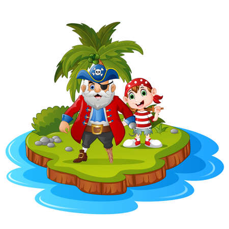 pirate crew: pirate in the island