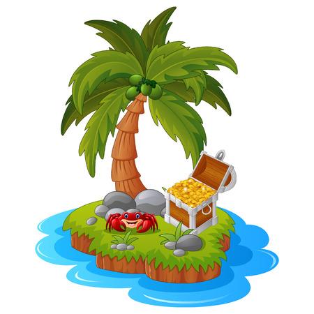 illustration of treasure island Illustration