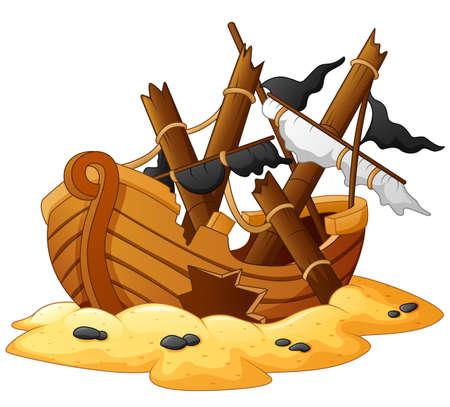 shipwreck: illustration of shipwreck