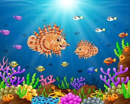 under the sea Vektorové ilustrace