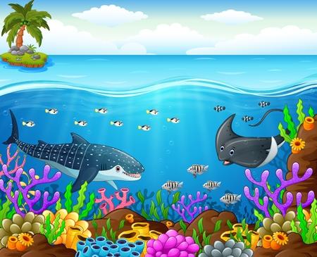 dibujos de peces bajo el mar