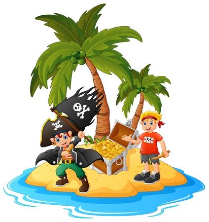 treasure island: Pirate in the treasure island