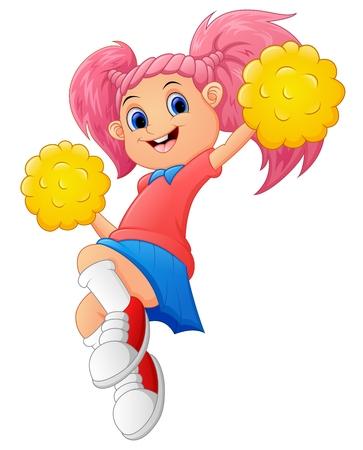 Girl cartoon Cheerleader