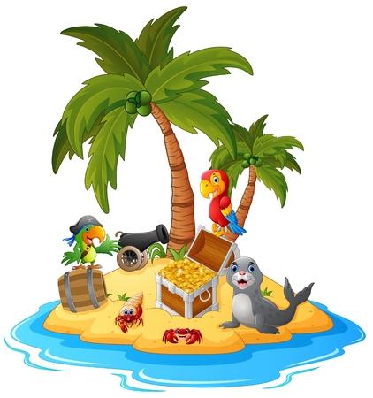 isla del tesoro: ilustraci�n de la isla del tesoro