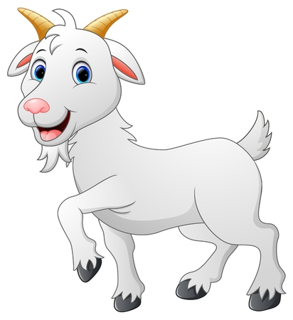 Cartoon goat character Vettoriali