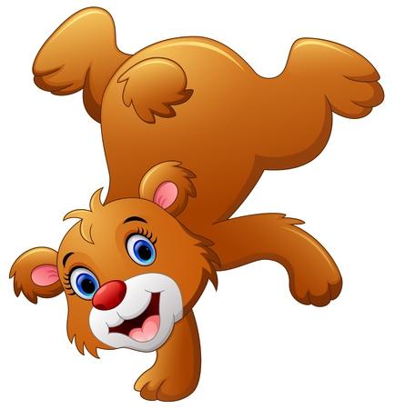 cute bear: Cute brown bear cartoon Illustration