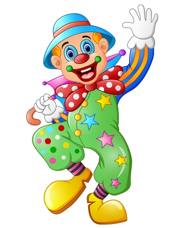 clown shoes: Funny clown on a white background