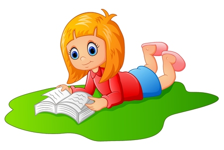 fille heureuse livre de lecture